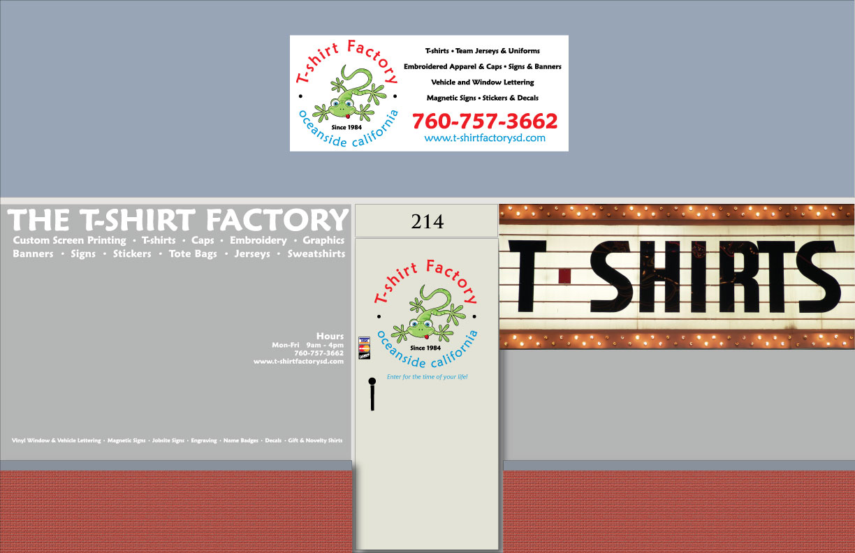 T-shirt Factory Storefront